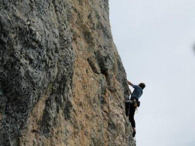 Arrampicata con corda a San Fausto in Navarra