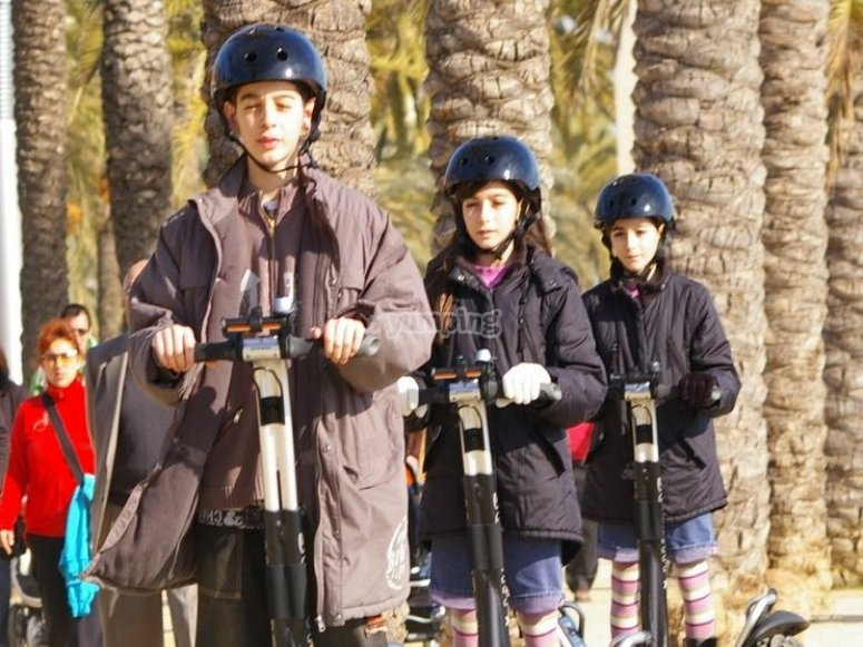 Segway route with the family Mataro