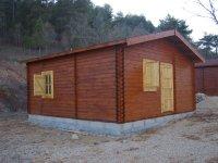 Alojamiento en cabañas de madera