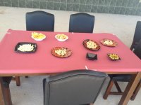 Mesa con ibericos