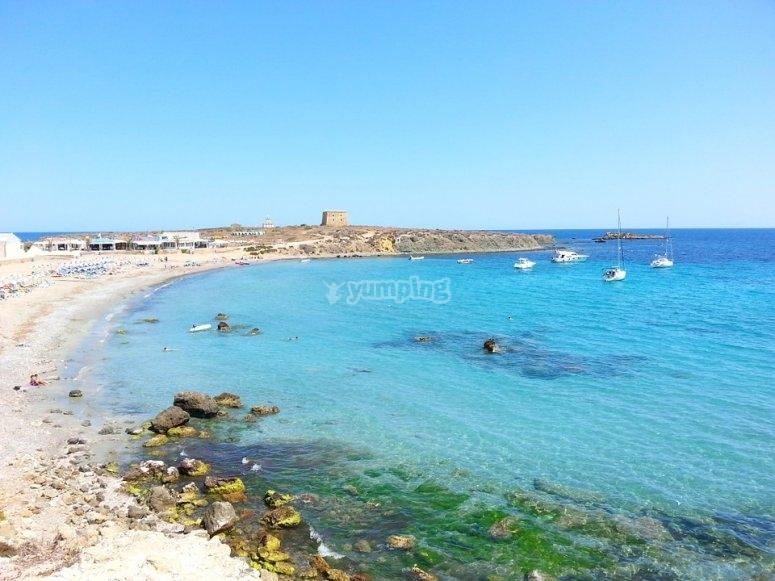 Playas turquesas de la isla