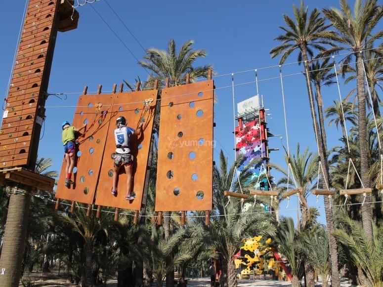 Cruzando por la pared vertical