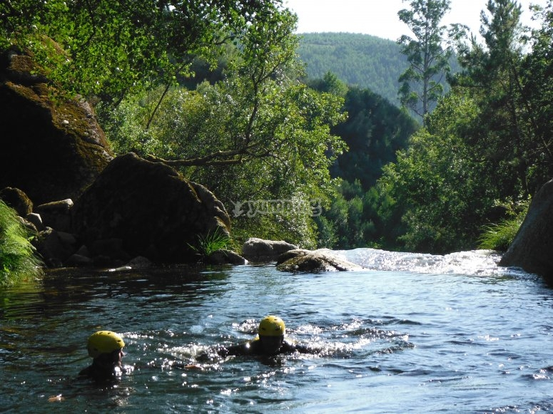 Swimming in Almofrei river