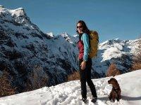 Raquetas de nieve y perro, la mejor combinación