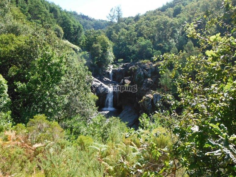 Waterfall of the Verdugo river