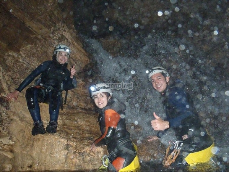 Barranco dentro de la cueva