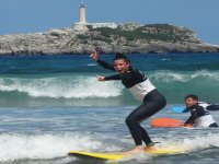 Surfing with experts in Somo