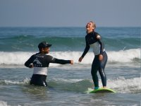 Laughs during surf training