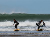 Surfing in Somo with friends