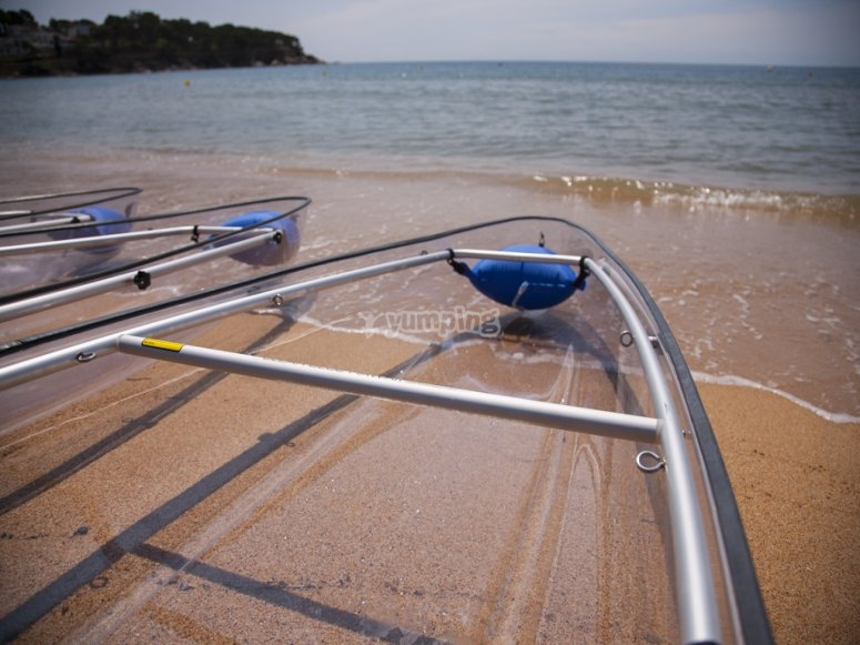 双独木舟和桨