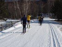 esquiadores de fondo