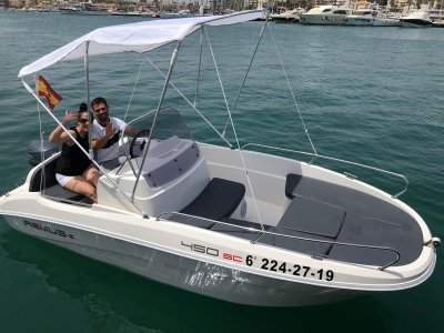 Vessel rental in Torrevieja 2 hours