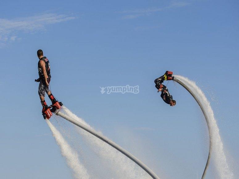 Flyboard in couple