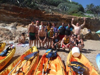 Ruta en kayak para adultos en Playa Malvarrosa 2h