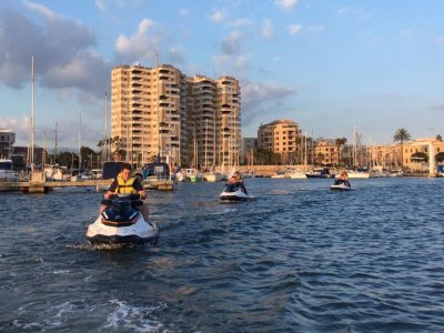 Jet ski in Portixol harbour for 1 hour
