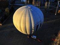 Balloon in a car park