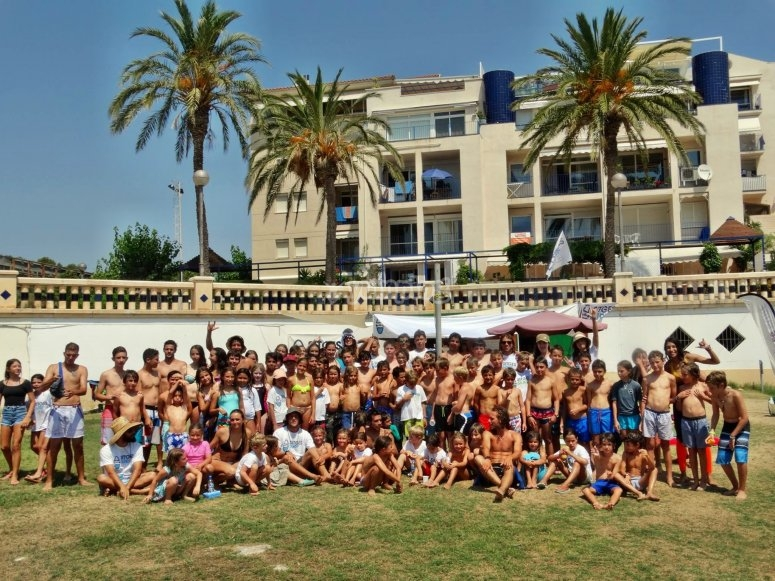 Many participants of the surf camp