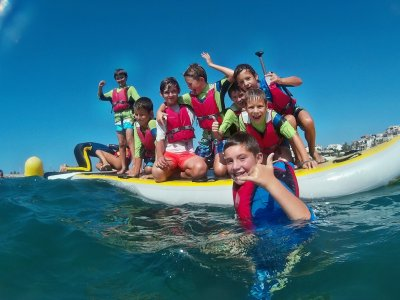 Summer surf camp for kids, Barcelona