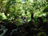 Barranquismo de iniciación en Santa Baia con fotos