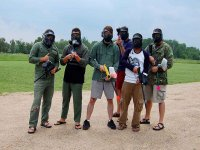 paintball game with friends