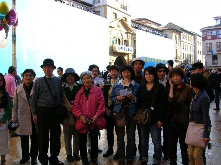 Grupo de turistas por la ciudad