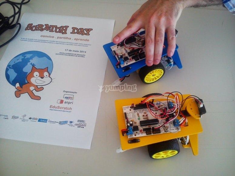 Robots con programa Scratch