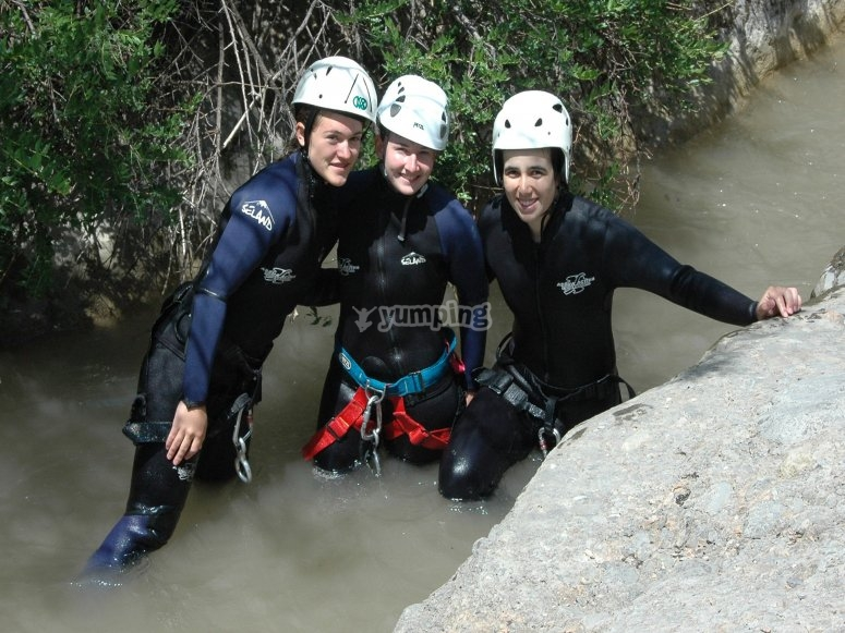 Barranquismo con amigos