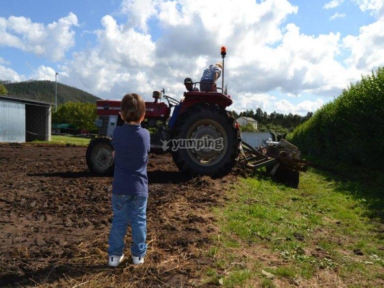 Funzionamento del trattore