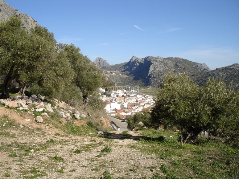 Vistas del pueblo de Benaojan