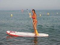 Paddle surf en playa de Malaga