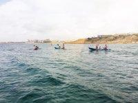Haciendo kayak en el mar menor