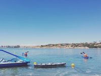 Navegando en Alicante con kayaks