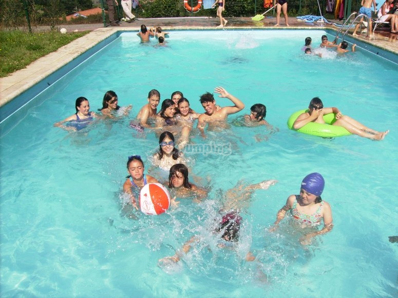 Nadando en verano
