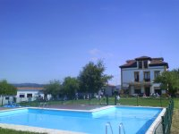 Accommodation and swimming pool