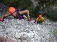Climbing the via ferrata