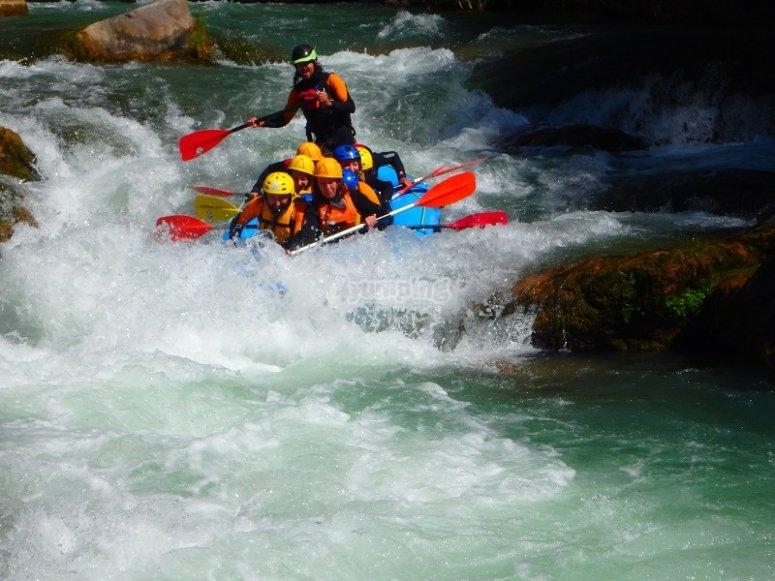 Descente de Montanejos en rafting