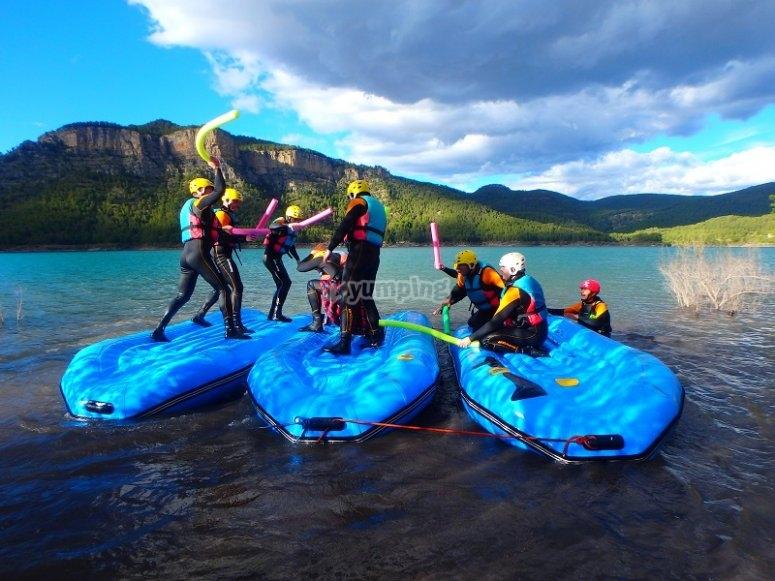 Fun tests on the rafts