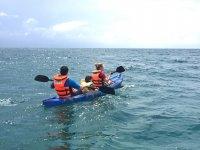 Navegando en kayak por le Mediterráneo