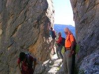 excursionistas en la montana
