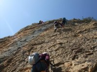 Escalones en roca