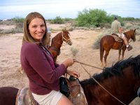A horseback riding tour