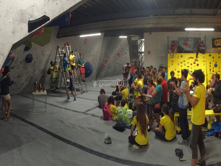 Sports competitions in our rock climbing