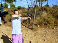 Preparando el tiro con arco
