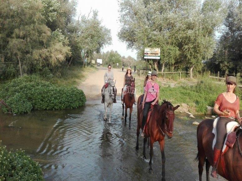 A caballo por el río