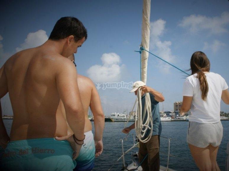 Cours pratiques dans le port