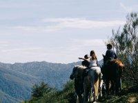 Percorso a cavallo sulla valle del Nalon