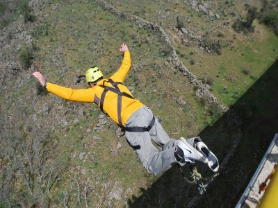 Bungee jumping in Madrid with video and photos
