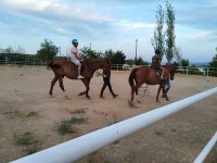 On the dirt track with the horses