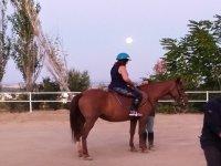 Aprendiendo técnicas de monta a caballo