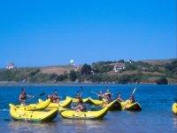 Manejando los kayaks